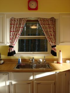 How To Make Kitchen Curtains Tutorial Long Photo Heavy Peas In A Pod