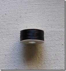 black beading thread