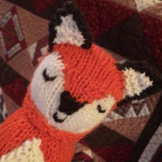 Woodland fox peeking in